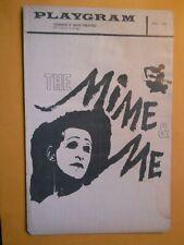 April 1960 - Gramercy Arts Theatre Playgram - The Mime & Me