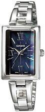 Casio LTP1341D-1A Ladies Silver Stainless Steel Quartz Watch Black MOP Dial NEW
