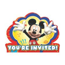 8 Disney Mickey Mouse You're Invited Childrens Birthday Party Invite Invitations