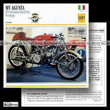 #011.A MV AGUSTA 350 GRAND PRIX 1957 Fiche Moto Motorcycle Card