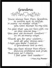 Grandma Matted Calligraphy - gift for her at Wedding