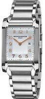 Baume & Mercier Hampton Rectangular Silver Dial Quartz Women's Watch MOA10020