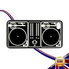 Giradischi Retrò Funky DJ ponti BIANCO LUMINOSI Apple iPhone 4 / 4S Rigido Gomma Custodia