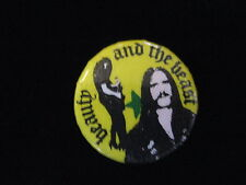 Motorhead-Beauty & The Beast-Heavy Metal-Pin Badge Button-80's Vintage-Rare