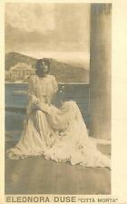 *WORLD'S GREATEST ACTRESS ELEANORA DUSE 1902 RARE D'ANNUNZIO PLAY PHOTO*