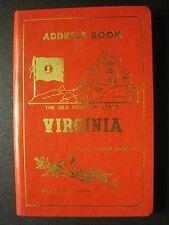 VINTAGE 1970's SOUVENIR VIRGINIA TELEPHONE ADDRESS BOOK RED- LITTLE BLACK BOOK