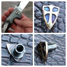 Steel Flame Crusader Shield Pivot Bolt For Emerson Custom & Production Knives