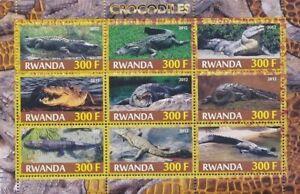 Rwanda 2012 MNH SS, Crocodiles, Reptiles