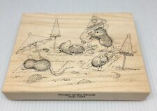 CATCHIN' THE RAYS MW RUBBER STAMP-STAMPA ROSA HOUSE MOUSE