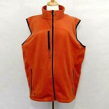 BLACK DIAMOND Mens Size XL Burnt Orange Black Fleece Full Zip Sleeveless Vest