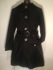Gallery Petite Black Button Down Coat Jacket - Women's PL Large - New   $160-240