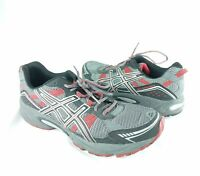 Asics Mens Gel Venture 4 Running Shoes Size 13 Black Gray Red Silver T333N