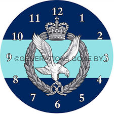 ARMY AIR CORPS GLASS WALL CLOCK
