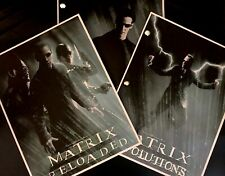 Warner Bros. THE MATRIX TRILOGY Rare Script SCREENPLAY SET Collection