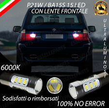 COPPIA DI LUCI RETROMARCIA 15 LED P21W BA15S CANBUS BMW X5 E53 NO ERROR