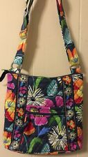 VERA BRADLEY Large Hipster Crossbody Bag Purse Jazzy Blooms