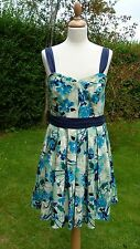 Belle by Oasis patterned sleeveless dress size 14                          (C13)
