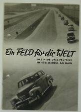 Original Broschüre Opel-Prüffeld, 1952