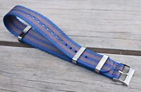 20mm Canvas Fabric Watch Strap Band Nylon Bond Style fits Timex Weekender USA!