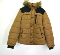 NWOT Men's 4XL Long Sleeve Button Up & Full Zip Up Faux Fur Hooded Puffer Jacket