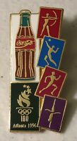 1996 Coca Cola Atlanta Olympics Coke Bottle Olympic Torch 100 Years Lapel Pin