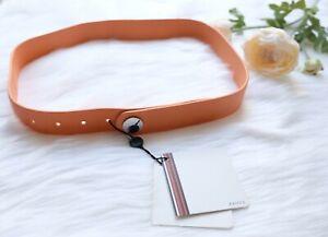 Raoul Harrods Net A Porter Designer Leather Waist Belt Women Pumpkin Autumn £80