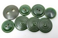 Vintage Bakelite Green Buttons Lot