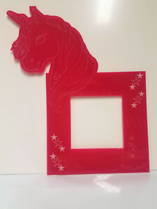 Unicorn Light Switch Surround Acrylic, Kids Bedroom, Design engraved on