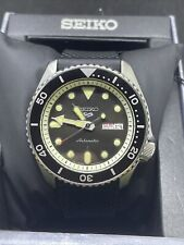 Seiko 5 Sports Automatic SRPD95 Black Sunray Day Silicone Watch (repair) #C6
