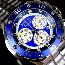 Invicta Reserve Excursion Maritime 50mm Blue Chrono Steel Swiss Mvt Watch New