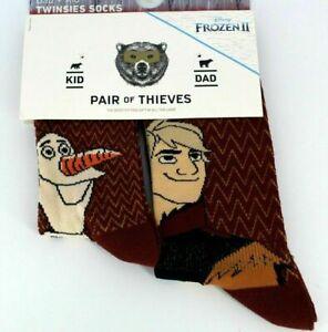 Twinsies Pair of Thieves Socks - Dad (Size 8-12) Kid (18M to 3YRS) Kristof Olaf