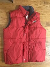 Hollister Red Down Waterfowl Puffer Vest Men's Large Vintage AA14