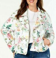 INC Plus Size Floral Sequin Moto Jacket Resort Glam International Concepts