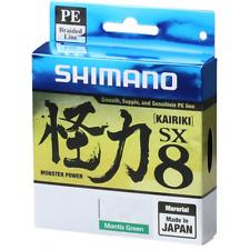 Tressé Kairiki Shimano PE 8x 0.250mm Mantis Vert 21kg 300m