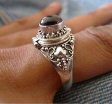 Poison Ring Sterling Silver Garnet UK Size T 1/2 * U.S 10 Jewellery