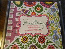 VERA BRADLEY 24 Mix & Match Notecards VIVA LA VERA, WATERCOLOR, ENGLISH MEADOW