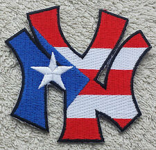 PUERTO RICO NEW YORK CITY FLAG PATCH NY Cloth Badge Biker United States America