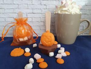 1 Halloween pumpkin Belgian Hot chocolate stirrer/sticks/spoons/chocolat au lait