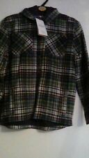 M&S Boys  Lumber Jack Shirt Aged 10-11 Years  lined hooded 100% cotton bnwt