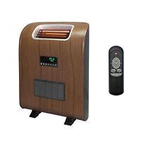Lifesmart 1500 Watt Slim Compact Portable Infrared Quartz Electric Space Heater