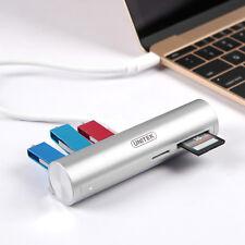 UNITEK 3-Port USB 3.0 Hub Multi Memory Card Reader Adapter Thunderbolt 3 SD TF