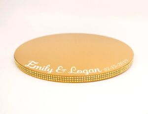 Personalized Gold Cake Stand Plate, Personalized Cake Plate, Cupcake Stand,
