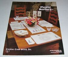 COUNTED CROSS STITCH LEAFLET PATTERN FLOWER BORDERS  #28