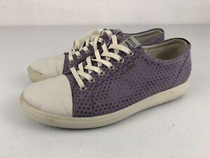 ECCO Hybrid Pink Sz 9.5 (40 EU) W Women Spikeless Golf Shoes Purple