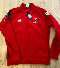 UEFA EURO 2016 France Volunteer Unisex Zip Jacket Adidas Size L Windbreaker