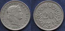 MONETA COIN MONNAIE HELVETIA SUISSE SWITZERLAND SVIZZERA - 20 RAPPEN 1945 -