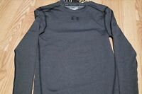 UNDER ARMOUR MEN'S COMPRESSION LONG SLEEVE GREY SHIRT, 1265650 090, NWT