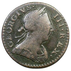 1776 V 6-76A R-4 Machin's Mills Colonial Copper Coin