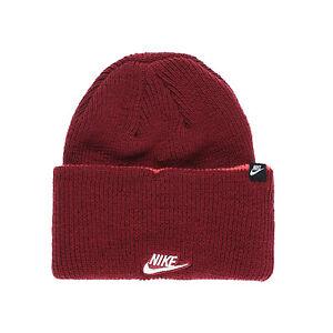 Nike Unisex Sportswear Cuffed Beanie Hat Red CI3232-677 d