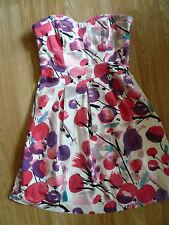 COAST cerise violet black white cocktail party dress 14 excellent condition